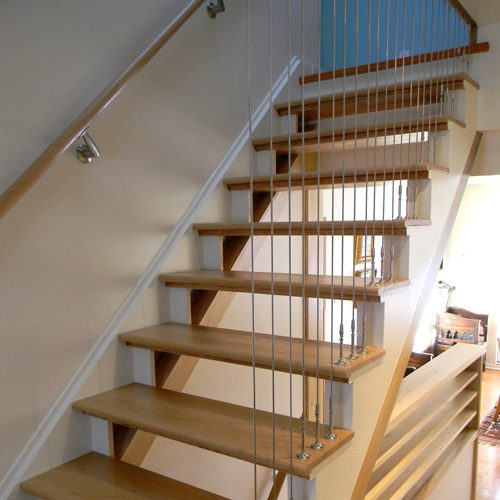 escaliers avec câbles d'acier
